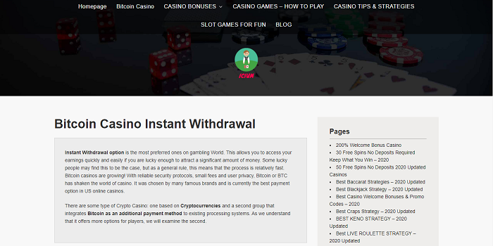 bitcoin casino instant withdrawal